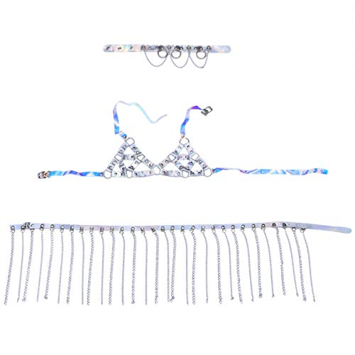 KESYOO 1 Set / 3 Stuks Beha Borst Lichaam Ketting Bikini Sieraden Lichaam Kettingen Zomer Strand Bikini Ketting Boho Kristal Lichaam Ketting Sieraden Voor Vrouwen