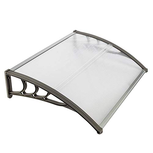 Binlin Window Door Awning,31'x 39' Window Awning Overhead Door Polycarbonate Cover Front Door Outdoor Patio Canopy Sun Shetter,UV,Rain Snow Protection Hollow Sheet