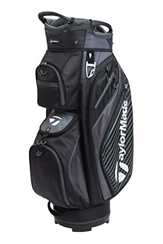 TaylorMade Golf 2018 Pro Cart 6.0 Cart Bag Mens Trolley Bag 14 Way Divider Black/Charcoal