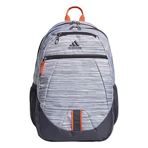 adidas Foundation Rucksack, Unisex-Erwachsene, Foundation, Rucksack, 977615, Looper White/Onix Grey/Solar Red, Einheitsgröße