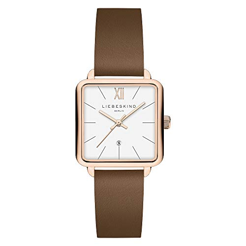 Liebeskind Berlin Damen Analog Quarz Uhr mit Leder Armband LT-0180-LQ