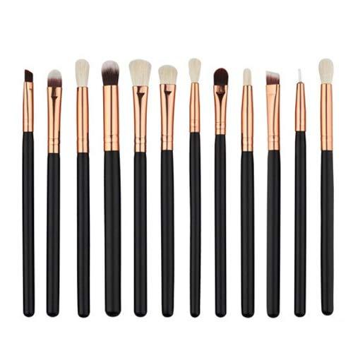 12 Eye Makeup Brushes Set Tool Cosmetic Set Wool Pincel Maleta de maquiagem Nose Shadow Eyeliner lip