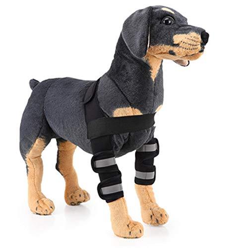 GYJ Canine Hond Elleboog Brace Voorbeen Ondersteuning Beschermer Herstel Compressie Warp Sleeve met Band Pet Gescheurd Ondersteunend voor Wond Schade en Sprain,S