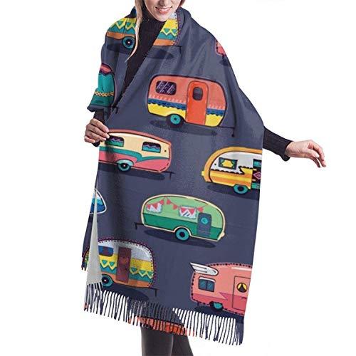 Manta bufanda feliz Camper camping coche chales y envolturas para regalos vestido...