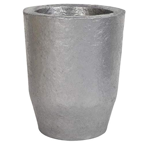 CANALHOUT Silicon Carbide Graphite Crucibles,Crucibles for Melting Metal,Withstand The High Temperature 1800℃(3272°F),Melting Casting Refining Aluminum Gold Silver Copper (6KG No.6)
