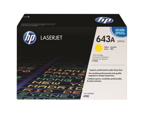 Toner ORIGINAL zu HP Color LaserJet 4700 / 4700 DN / 4700 DTN / 4700 N / 4700 PH Plus, 1x yellow / gelb, 10.000 Seiten, ersetzt Q5952A, 643A