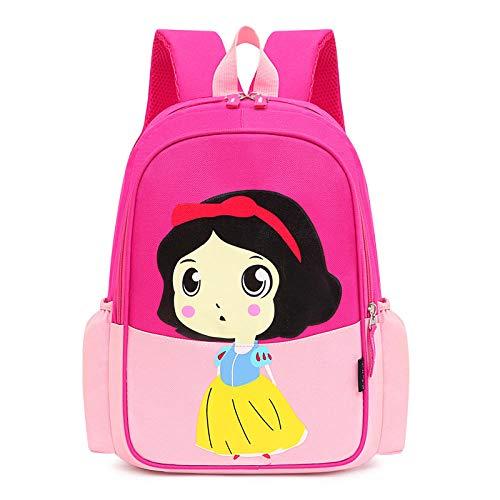 Sweet Lady Mochila Escolar Primaria 2021 Salvaje Mochila de Gran Capacidad Mochila Linda de Dibujos Animados para niña-Pequeña Rosa Rosa Blancanieves