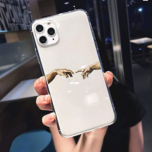 LIUYAWEI Divertida Caja de teléfono Suave Abstracta para Mujer Face Line para iPhone 11 Pro MAX 12 Pro SE 7 8 Plus XR XS MAX X Kiss Más a Menudo Clear Cover, T141, para iPhone XS MAX