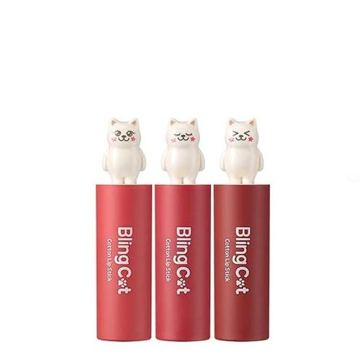 転倒神経衰弱子犬トニーモリー ブリングキャット コットン リップスティック 3.4g / TONYMOLY Bling Cat Cotton Lipstick # 08. Femme Love [並行輸入品]