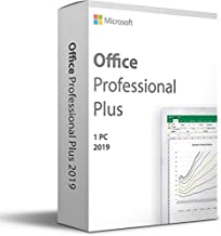 Microsoft Office Home and Business 2019, One-Time Purchase - Lifetime Validity, 1 Person, 1 PC or MAC (Activation Key Card)