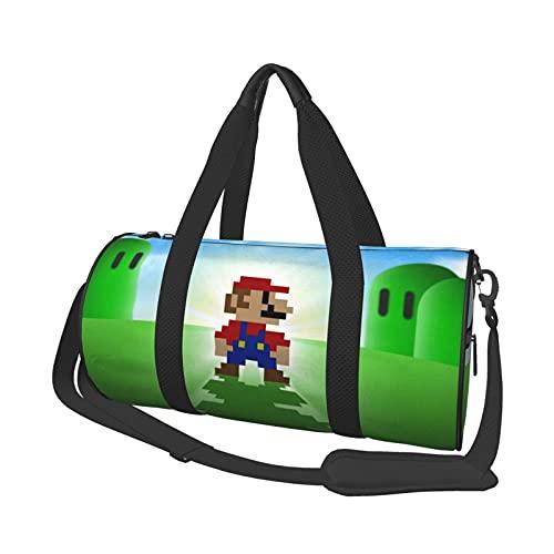 Game Super Mario - Bolsa de deporte para gimnasio, fin de semana de yoga, bolsa de viaje, unisex