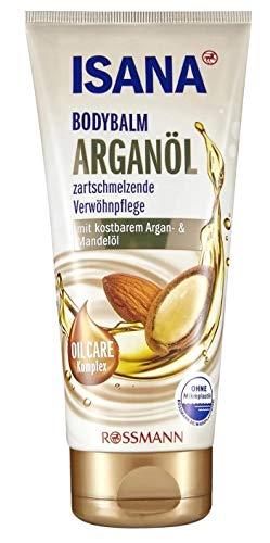 ISANA Bodybalm Arganöl 200 ml für sehr trockene Haut, reichhaltige Pflege mit Argan- & Mandelöl, dermatologisch bestätigt