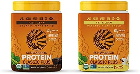 Sunwarrior Classic Plus Organic Vegan Protein Powder with BCAAs and Pea Protein Vanilla Chocolate product image