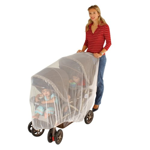 Jeep Double Stroller Mosquito Net, Tandem Stroller Net, Baby Net, Double Stroller Accessories, Mosquito Net for Baby Double Strollers, Tandem Stroller Bug Cover, White, Universal Size
