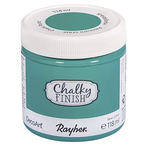 Rayher 38867410 Chalky Finish, meergrün, Dose 118ml