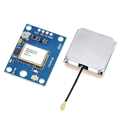 SUBALIGU GY-NEO6MV2 NEO-6M GPS Flight Controller Module 3V-5V with Super Strong Ceramic Antenna for Arduino EEPROM APM 2.5
