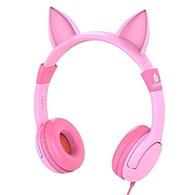 Kids Headphones girls, iClever Volume Limiting Headphones for Kids, Children Headphones, Baby Headphones for School/Travel/Phone/Kindle/PC/MP3 from Iclever