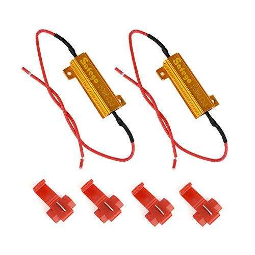 Safego 2x 50W 6ohm Resistance de Charge Pour corriger le Code D'erreur de la Ampoule LED 12V