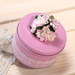Valentine s Day Toy Children Toy Rectangular Shape Wedding Gift Box Metal Tinplate Empty Tins Candy Box Home Kitchen Storage  Color Pink