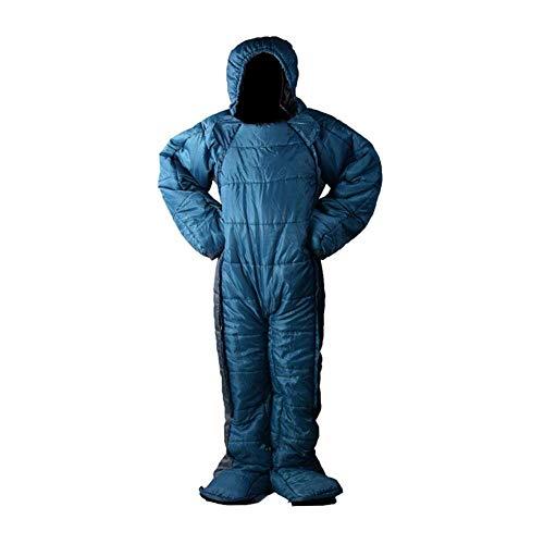 Sac de couchage ultra léger pour adulte avec bras et jambes en bas sac de couchage pour camping et sommeil avec chapeau pour extérieur chaud, xl