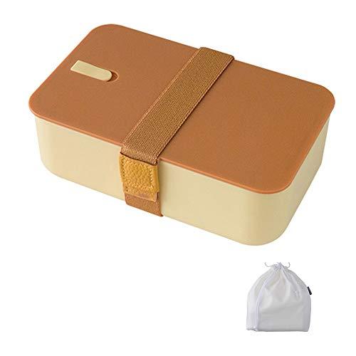 Caja De 1000ml, Fiambrera Caja De Doble Capa, Muy Adecuada para Almuerzos Y Meriendas para Niños Y Adultos (Color : Yellow)