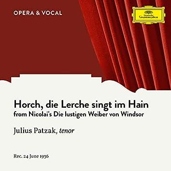 Nicolai: Horch, die Lerche singt im Hain