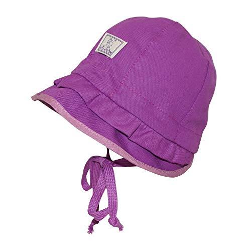 PICKAPOOH Mädchen Mütze Emma mit UV-Schutz Bio-Baumwolle, Dahlia, Gr. 50