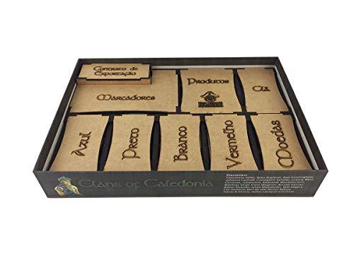 Organizador (insert) Para Clans Of Caledonia Bucaneiros Jogos Madeira Mdf