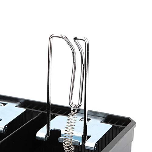 SHYEKYO Caja de Dinero Caja de Almacenamiento de Moneda clásica y Duradera Fácil de Usar, para Almacenamiento, para Tiendas, para supermercados(Black)