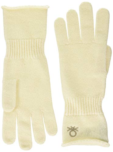 United Colors of Benetton (Z6ERJ) Guanti Guantes y manoplas, Off White 000, OS para Mujer
