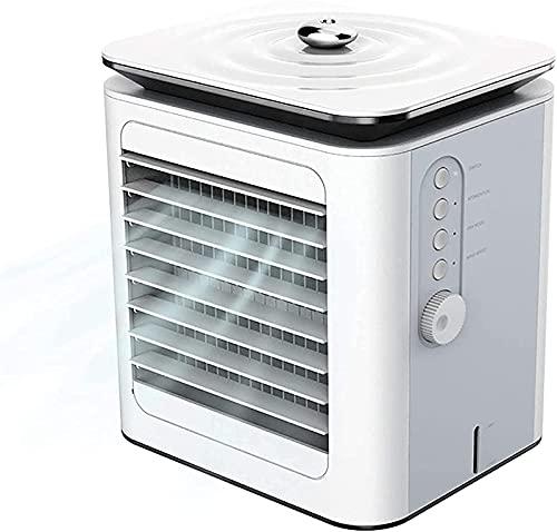 JANEFLY Mini Air Cooler Desktop 3 In 1 Portable Mini Air Condition Air Cooler Humidifier Fan Purifier Air Evaporative Conditioner Humidifier For Home, Office, Sleep, Outdoor 16x13x19cm Durable