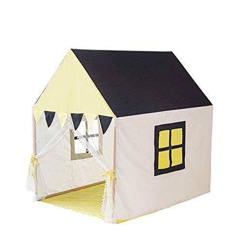 CSQ Children's Room Play Tent, Girls & Boys Castle Tent Baby's Play House with Colorful Flags/color Matching Design Kids' Play Tents Children's play house (Size : 95 * 125 * 127CM)
