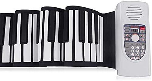 LINGLING-Tastatur 88-Tasten-Handrollen-Klaviersatz Dicke Professionelle Version Tragbare Klapptastatur (Farbe   Weiß, Größe   88 Keys)