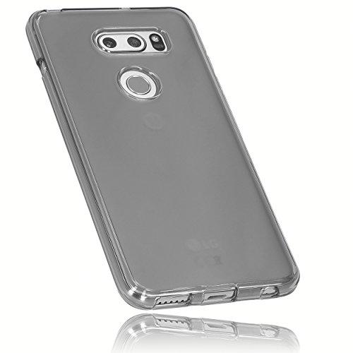 mumbi Hülle kompatibel mit LG V30 ThinQ Handy Hülle Handyhülle, transparent schwarz