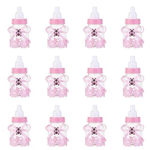 NUOLUX Caramella bottiglia regalo scatola Baby Shower favori 12pcs (rosa)