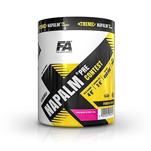 Fitness Authority Xtreme Nap Pre-Contest - 1 paquete x 500 g - Beta Alanina, AAKG y Citrulina - Vitaminas con Coffeina y Taurina - Energía y Enfoque (Pear Kiwi, 500g)