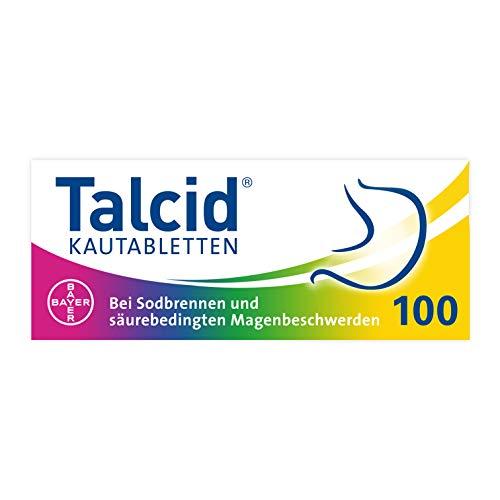 Talcid Kautabletten 100 Stück bei Sodbrennen und säurebedingten Magenbeschwerden