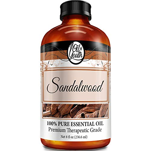 8oz Bulk Sandalwood Essential Oil – Therapeutic Grade – Pure & Natural Sandalwood Oil