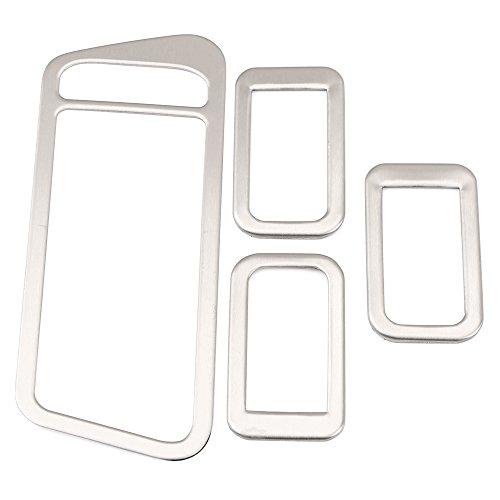Emblem Trading Multifunktionstasten Abdeckung Mittelkonsole Armaturenbrett Blende Verkleidung Rahmen Edelstahl Optik Passend Für Golf 7