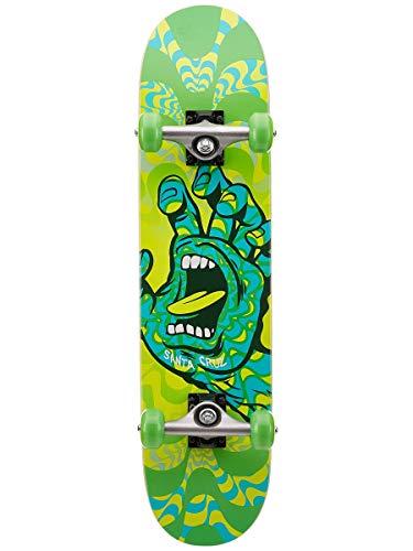 Santa Cruz Kaleidohand - Skateboard completo, 18 x 75 cm, colore: Verde