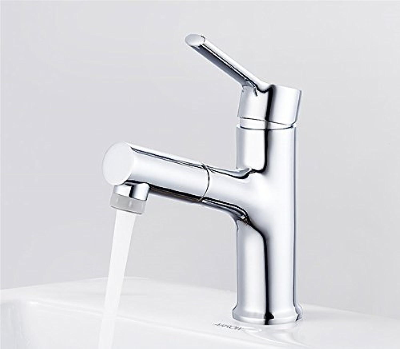 MMYNL TAPS MMYNL Waschtischarmatur Bad Mischbatterie Badarmatur Waschbecken Antike Ziehen Einziehbaren Heien und Kalten Wasserhahn Badezimmer Waschtischmischer