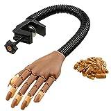 REPLOOD Manija sintética para práctica de uñas y esteticista, con soporte de abrazadera para mesa de uñas