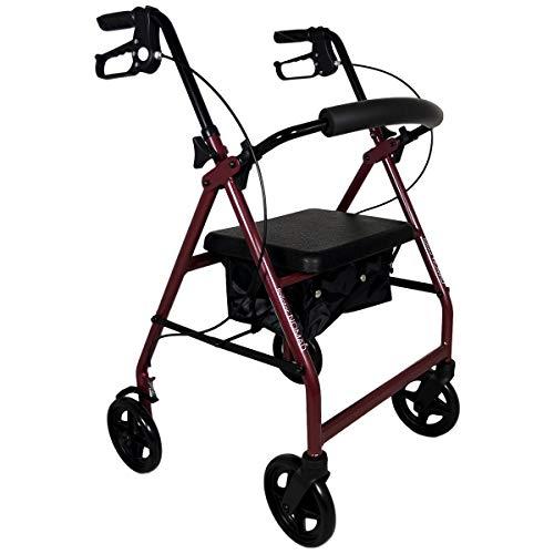 Nomad, Deambulatore in Alluminio Ultraleggero Pieghevole con 4 ruote e Cestino Incluso