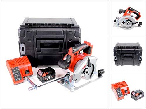 Milwaukee HD 18 CS - 401 18 V 165 mm accu handcirkelzaag in Stanley TSTAK Box + 1 x M18 B4 4,0 Ah accu + M12-18C oplader