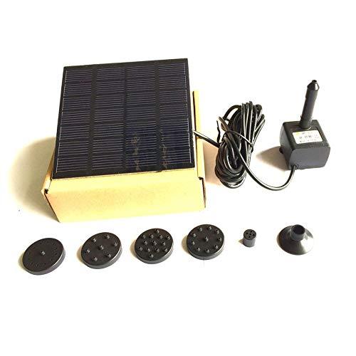 ZengBuks Fashion Square Form Solar Panel Wasserpumpe Kit Brunnen Pool Gartenteich Tauchbewässerung Vogel Bad Tank Set - Schwarz