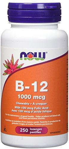 NOW B-12 1000mcg+Folic Acid 250chews