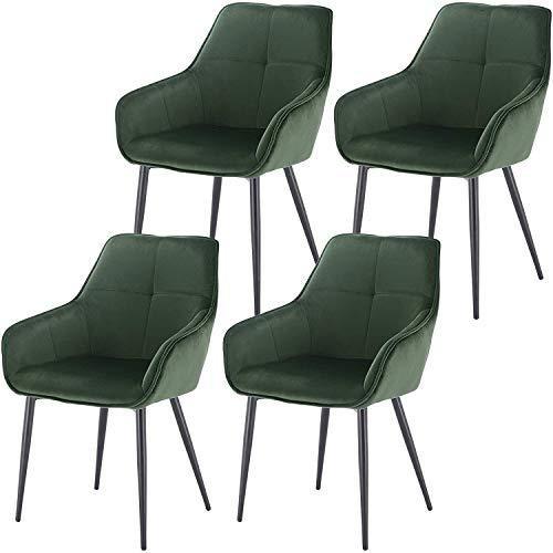 Président, une famille de quatre, le comptoir de la cuisine chaise coin, gris foncé, avec des jambes en métal massif, dos et accoudoirs pour salon bureau salle à manger, cuisine,Green