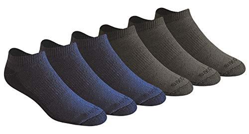 Dickies Men's Big und Tall Dri-Tech Moisture Control 6 Pairs Low Cut Socks, Denim, Shoe Size: 12-15