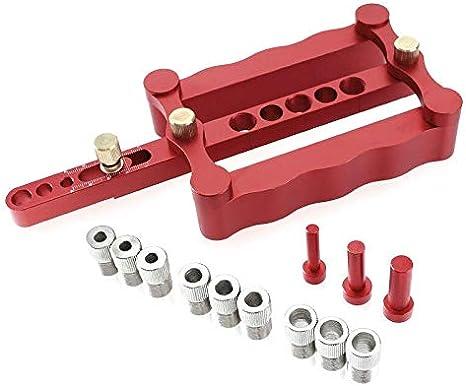 Autocentrado cajeadoras Plantilla Metric Dowel 6/8 / 10mm Herramientas de perforación for la perforación (Size : Set B)