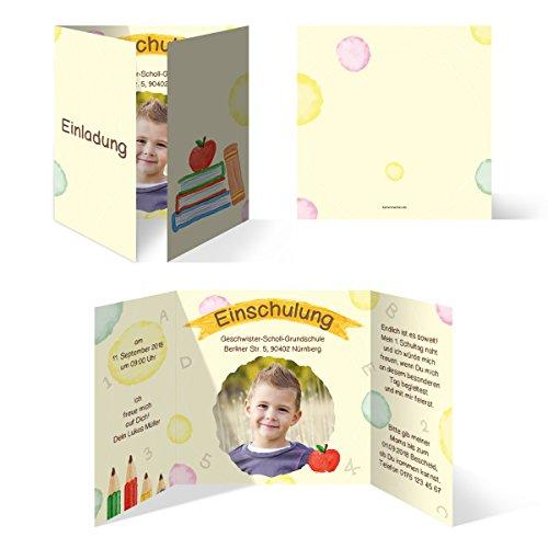 20 x Einschulung Einladungskarten Einschulungskarten Schulanfang Set - Schulreif